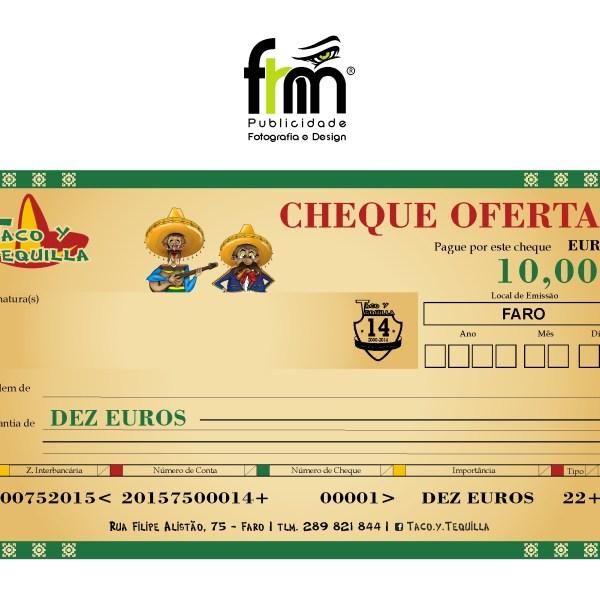 Placa Cheque Oferta – Taco y Tequilla