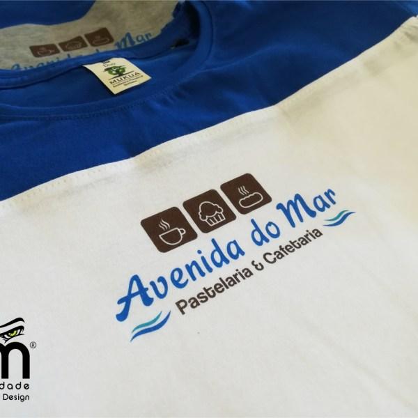 T-shirts Manga Curta com Impressão Digital Direta