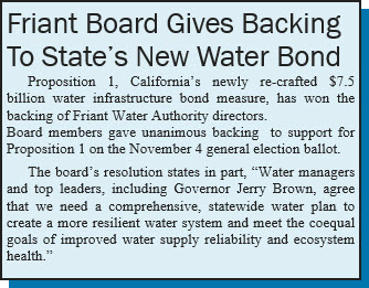 Friant Board Gives Backing