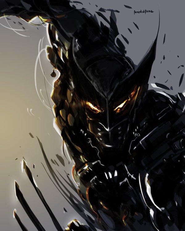 Darkblade Wolverine - Digital Art Fribly