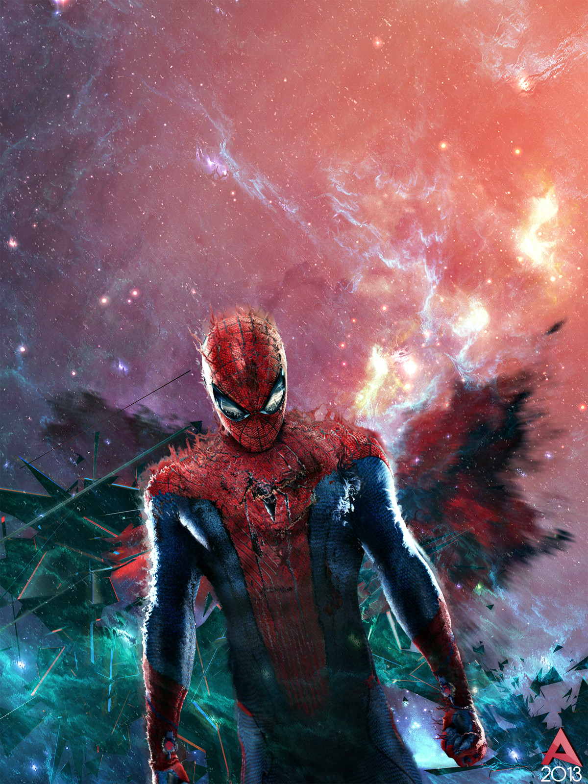 Spiderman Displacement  Digital Art Fribly