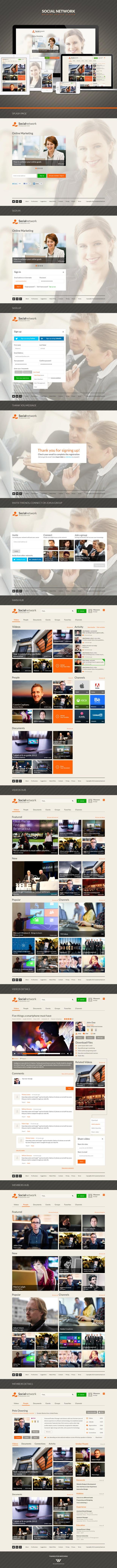 Social Network Design - Metro Style
