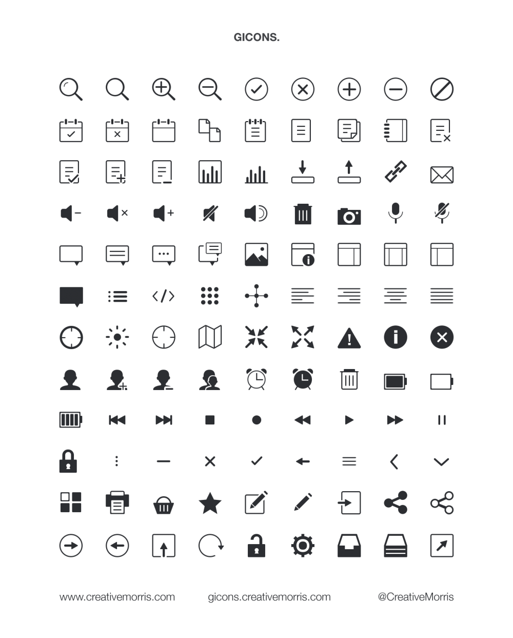 gicons free vector icons - icons