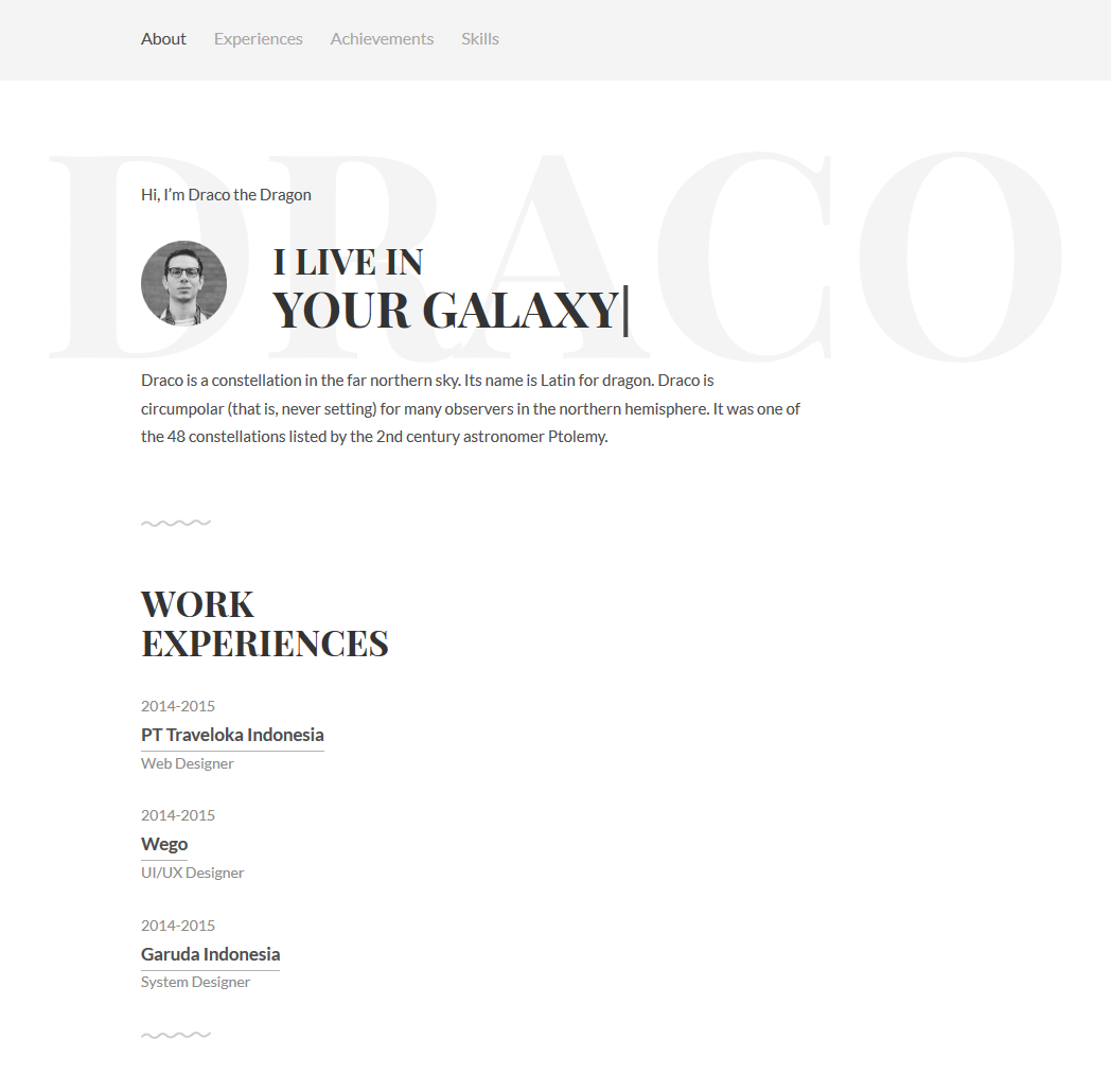 Free Personal Resume Website Template Freebies Fribly