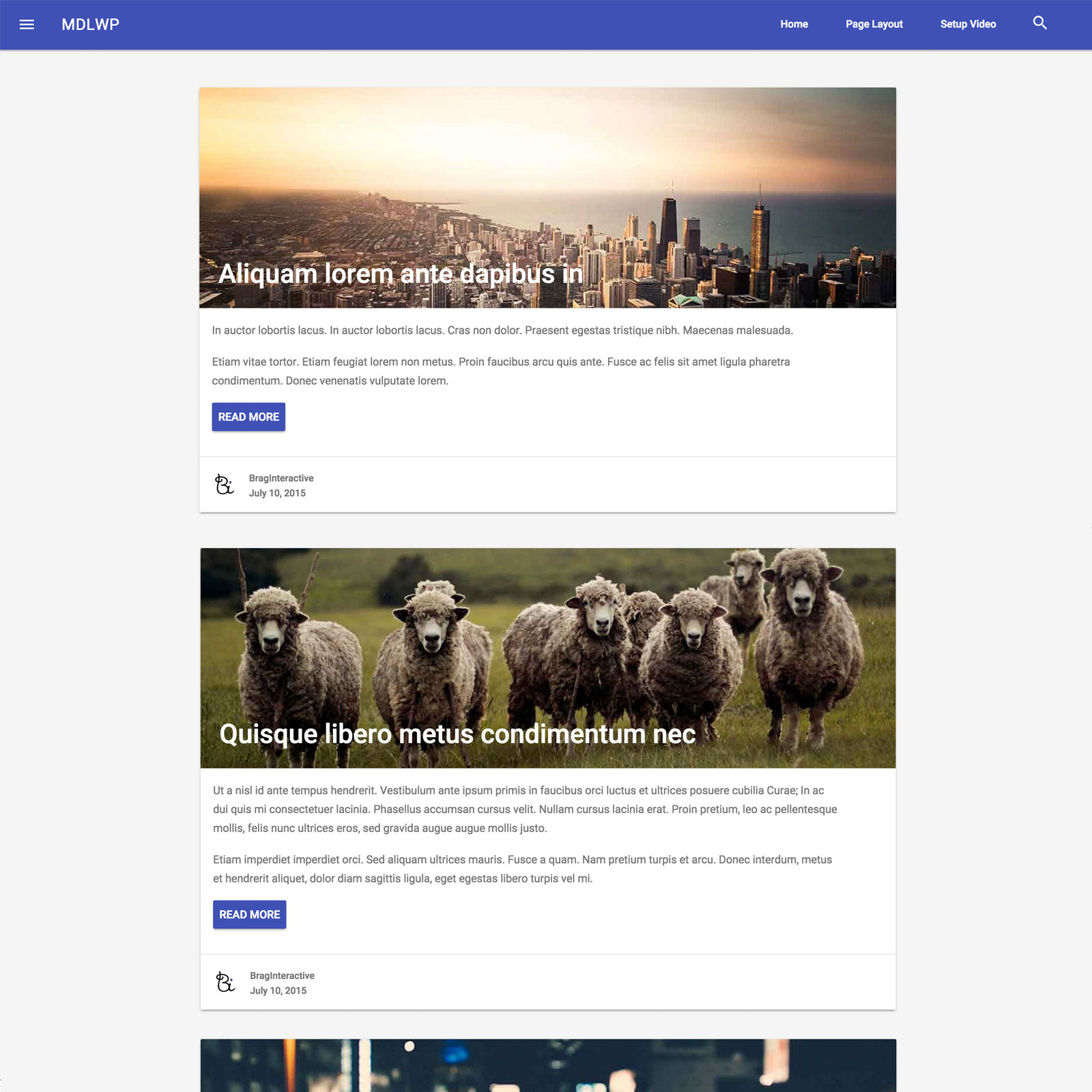 Free Material Design Lite Wordpress Theme Freebies Fribly
