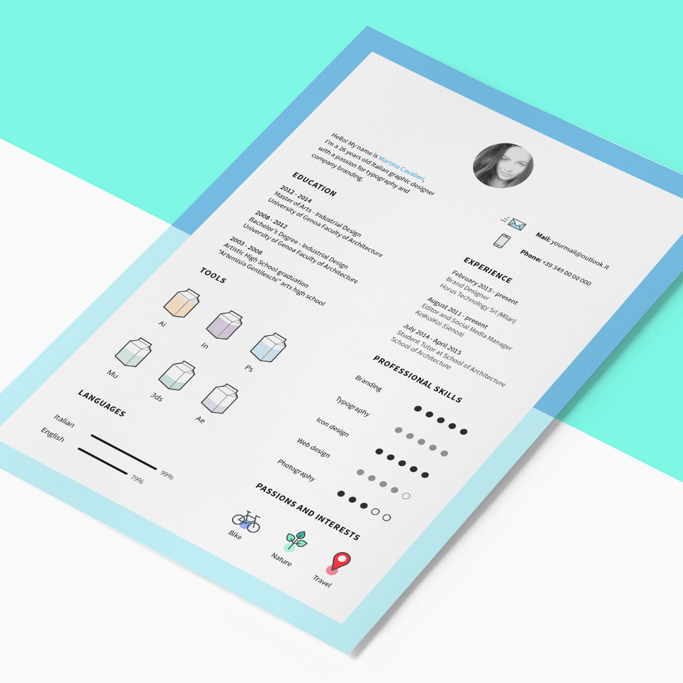 Free Resume Template with CV Icons  Freebies Icons  Fribly