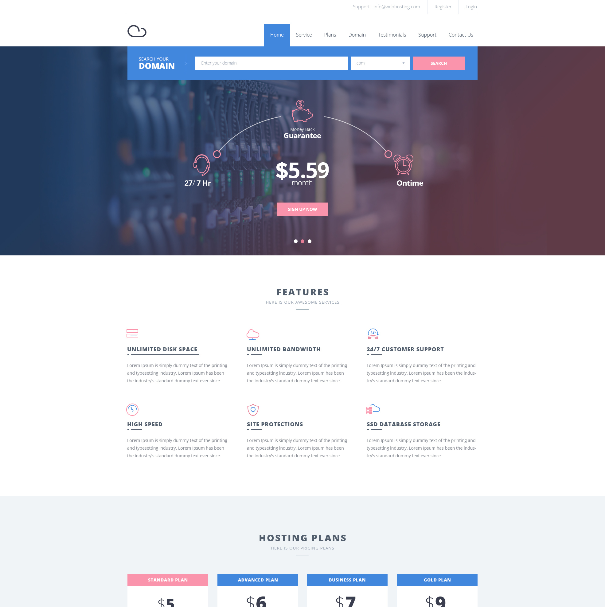 Free hosting website template freebies fribly march 16 2017 comments 0 views 1335 freebies maxwellsz