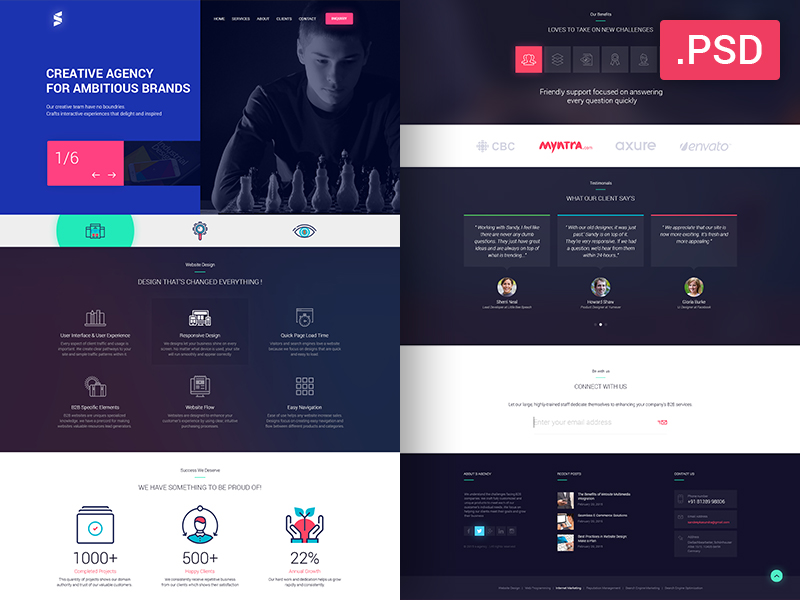 Free creative agency website template freebies fribly april 22 2017 comments 0 views 1533 freebies maxwellsz