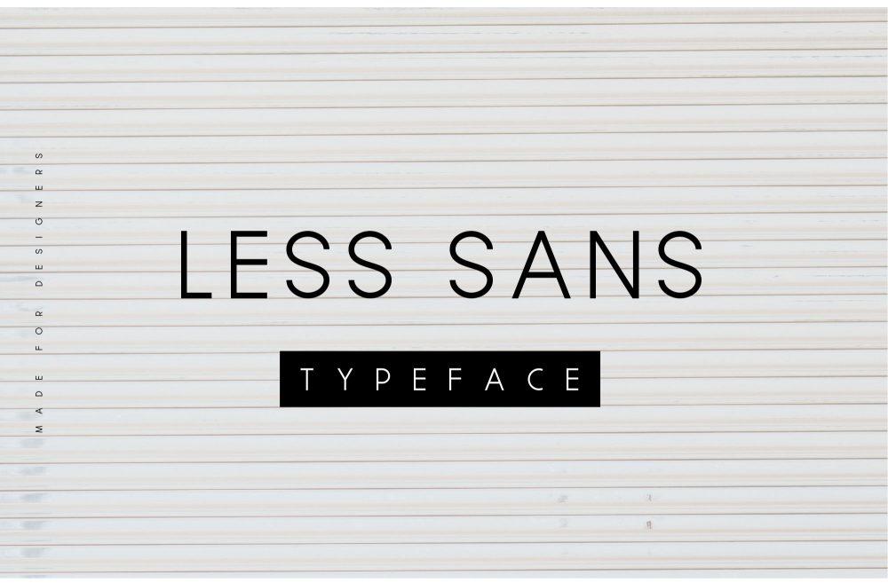 Less Sans Free Font e1506939205308