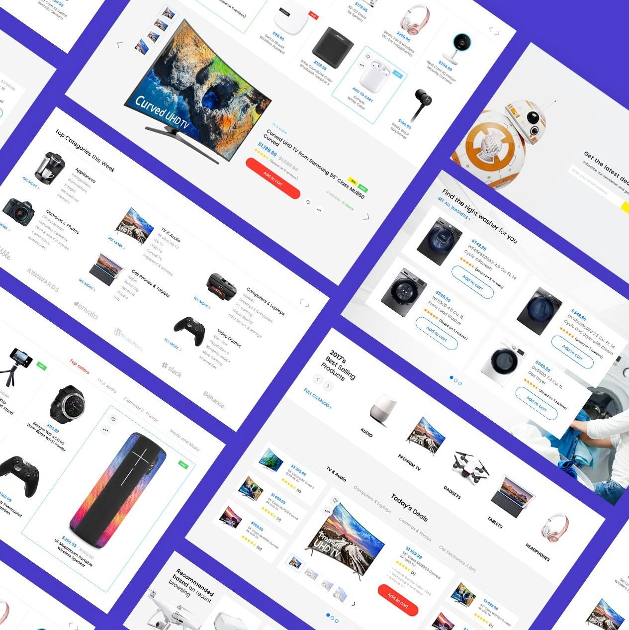 free ecommerce web template