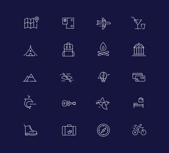 These icons fit any color palette perfectly.