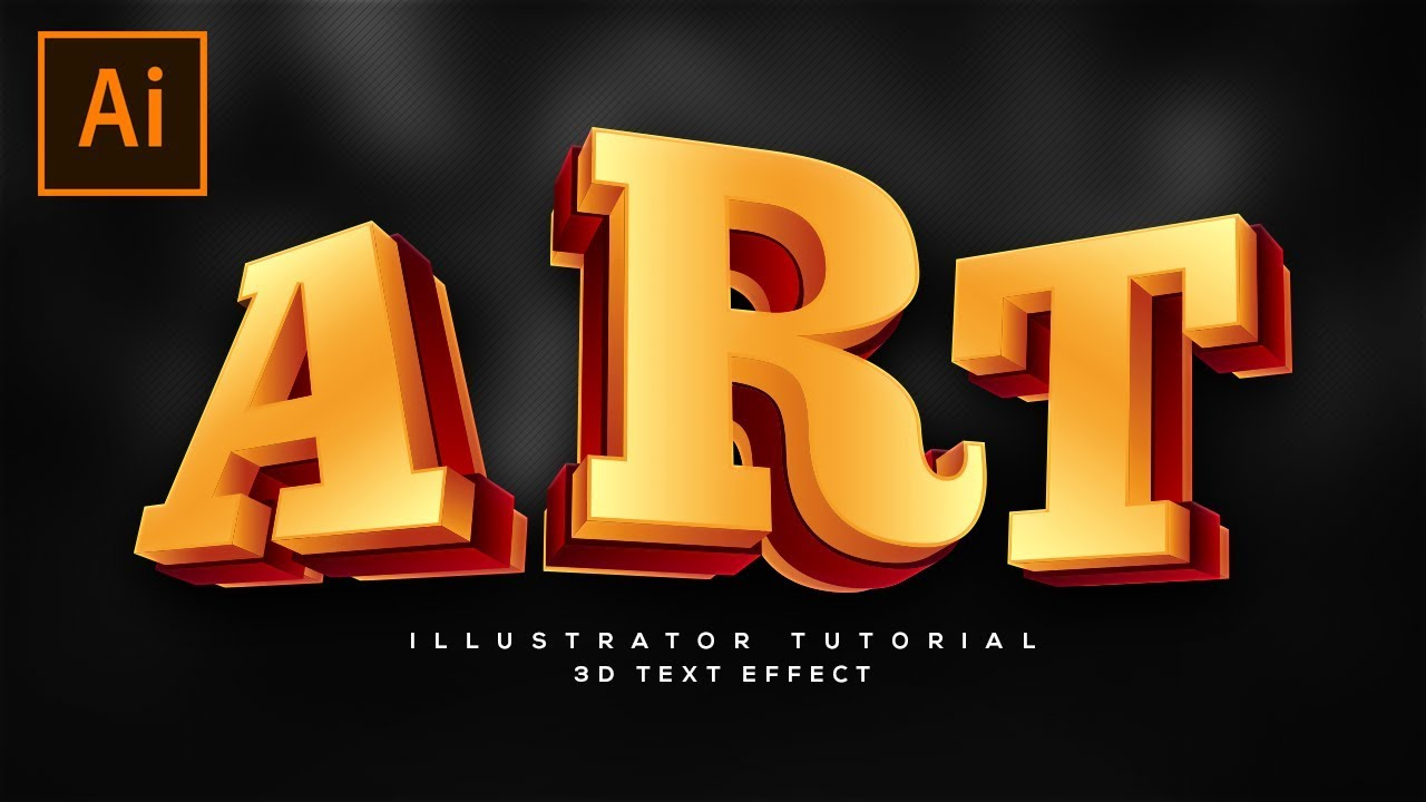 how to create cool looking 3d text in adobe illustrator