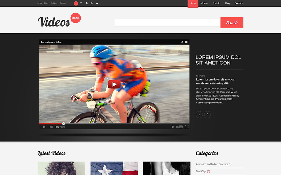 Video Content WordPress Theme
