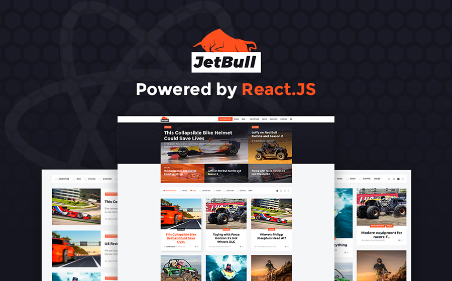 JetBull - Extreme Racing Responsive React.js Powered