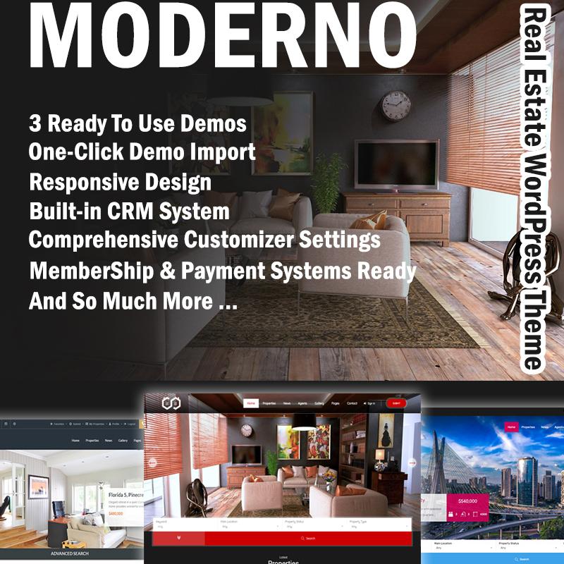 Moderno - Real Estate Premium WordPress Theme