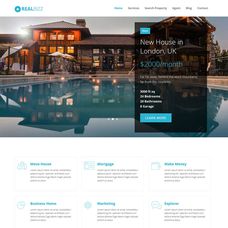 RealBiz - Real State Landing Page Template