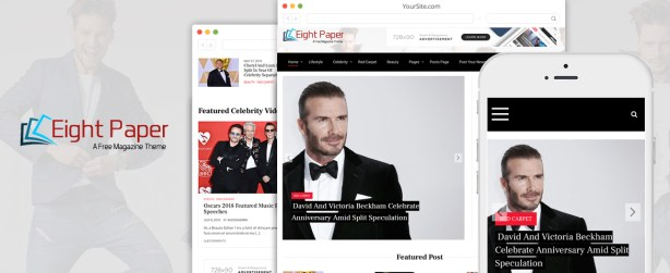 EightPaper - Free Newspaper Magazine WordPress Theme