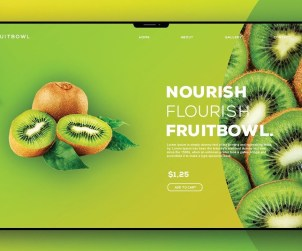 Food Header Design in Photoshop