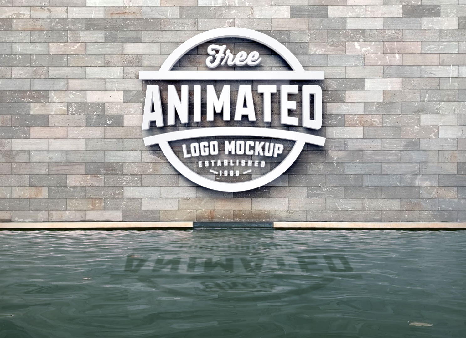 3D Logo Animated Mockup with Water Ripple Effect - Freebies