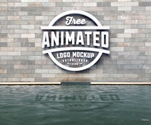 Free 3D Logo Animated Mockup