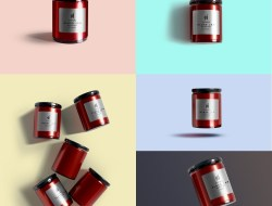 Free Glass Jar Mockups Set