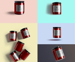 Free Glass Jar Mockups Set