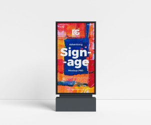 Outdoor Advertising Signage Mockup