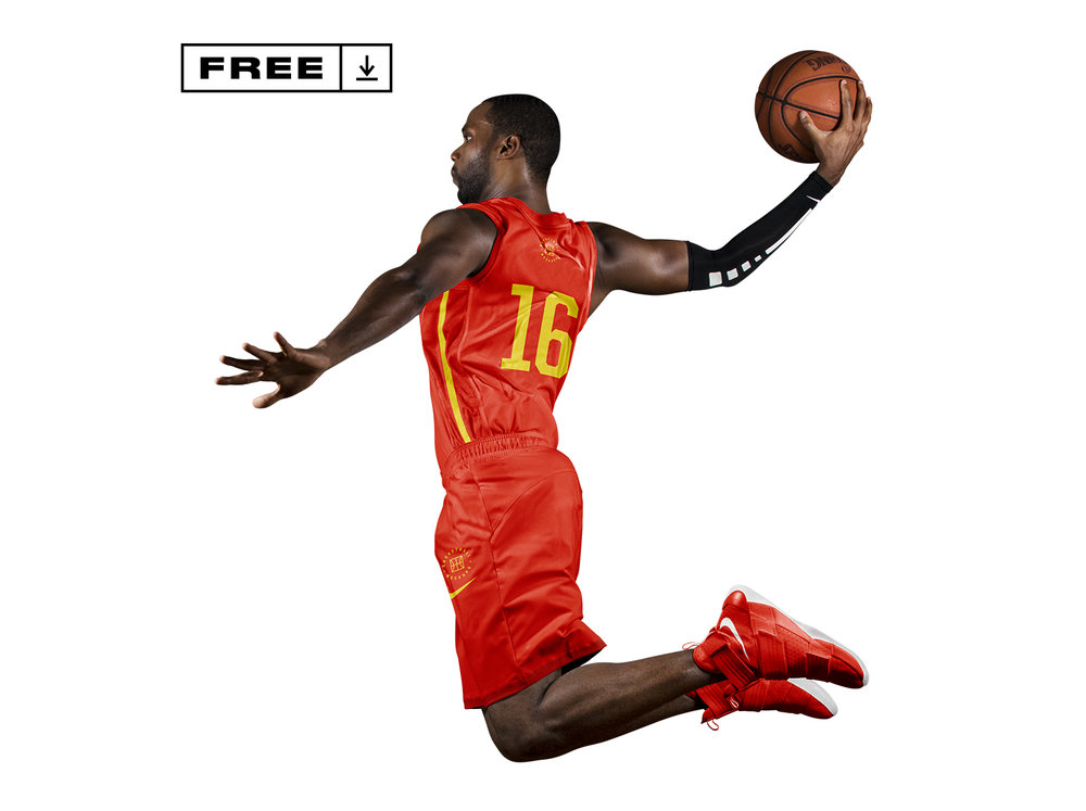 Basketball Player Wear Mockup
