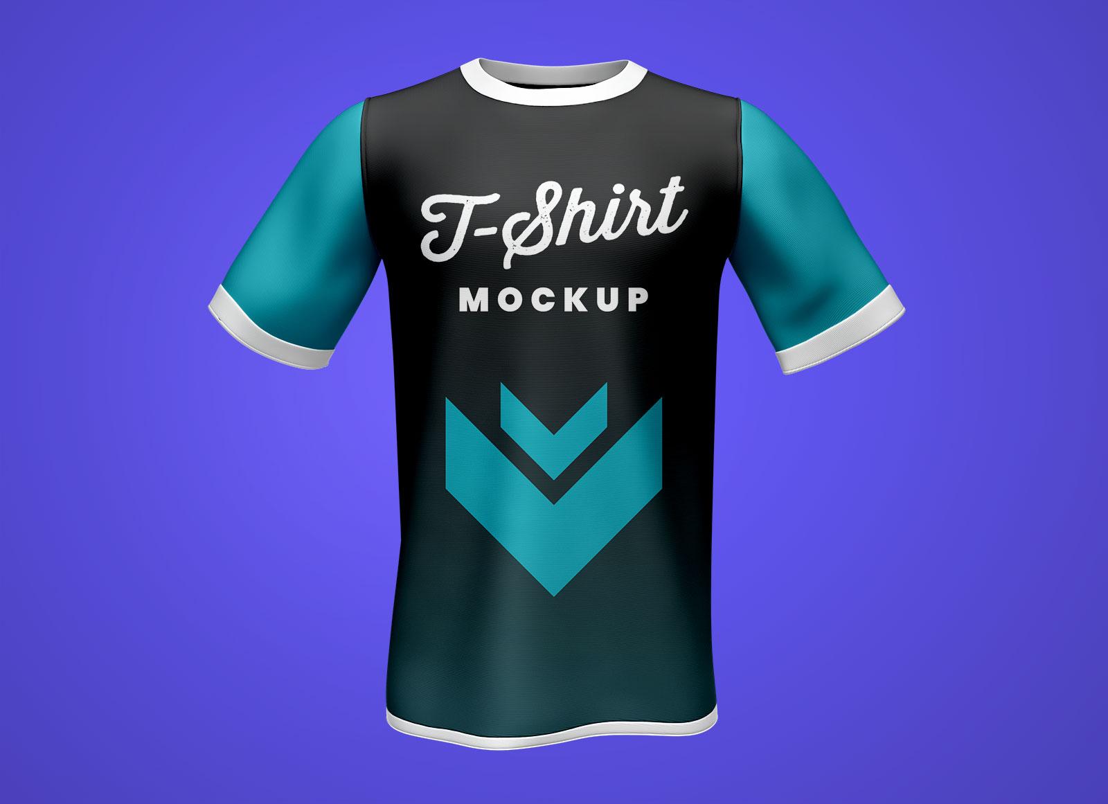 Half Sleeves T-Shirt Mockup