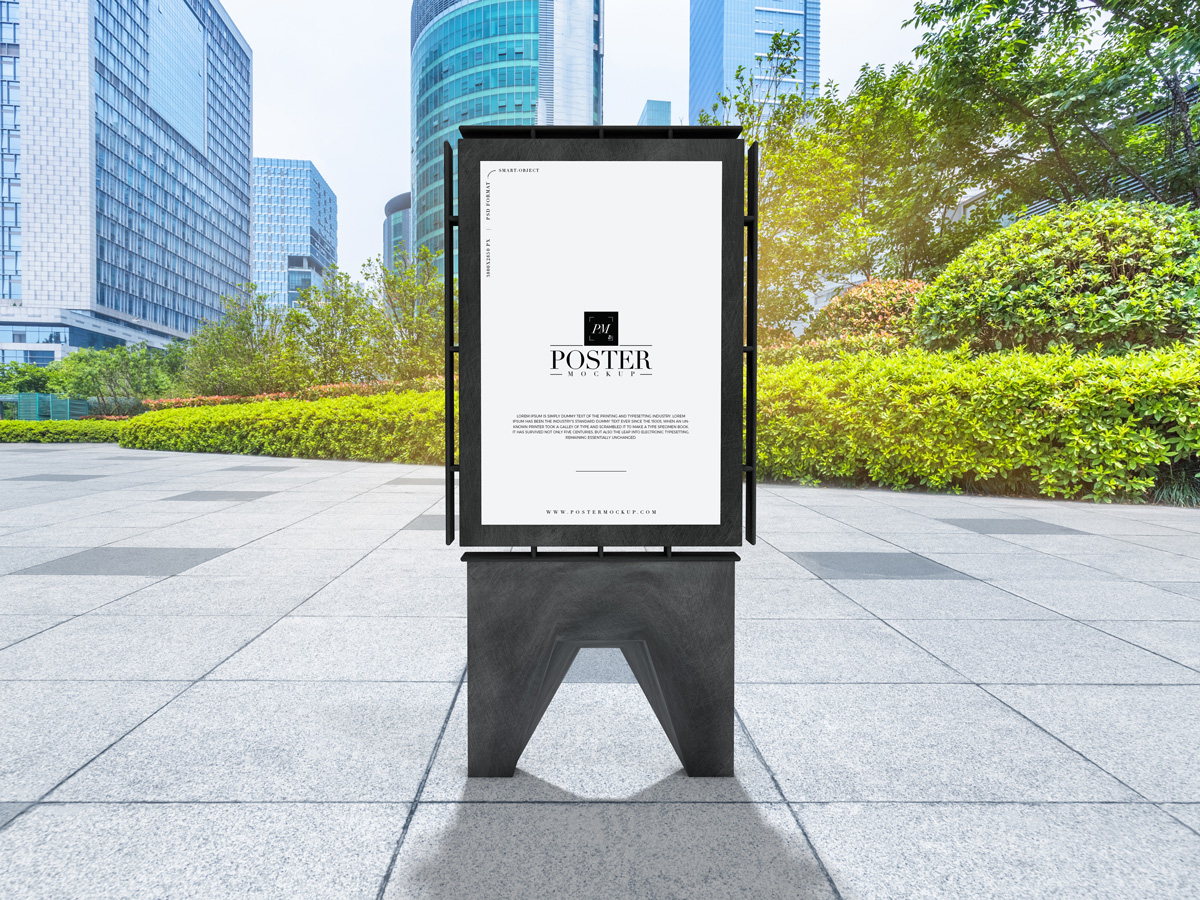 Outdoor Billboard Poster Mockup