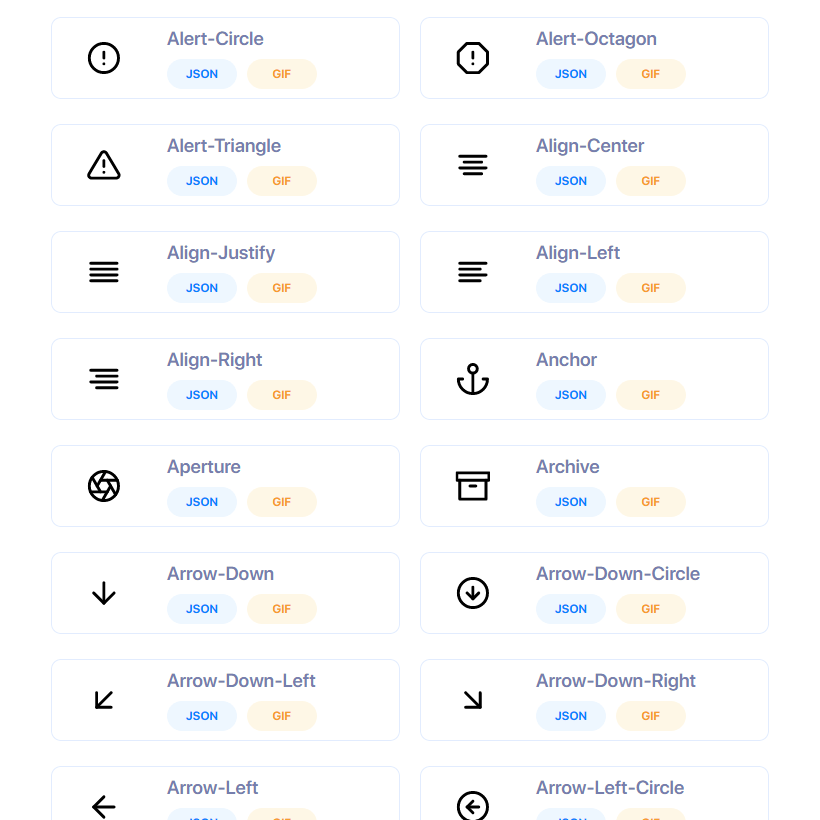 Flight Free Animated Icons