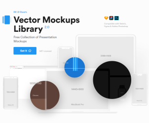 Free Vector Mockups Library