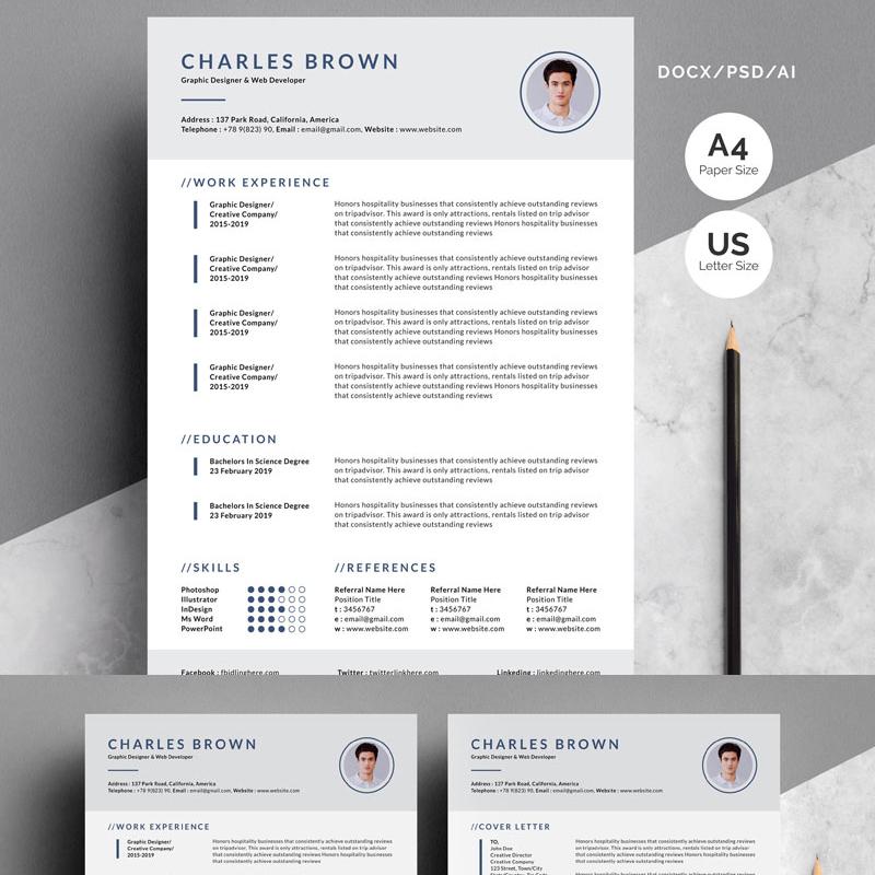 CV - Charles Brown Resume Template