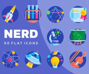Nerd Free Flat Icons