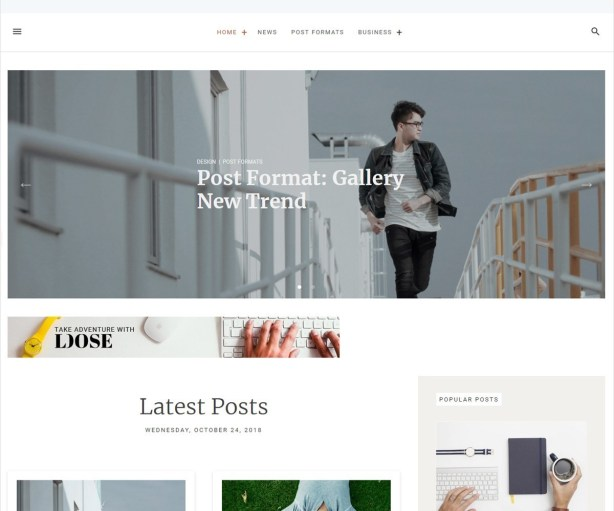 WordPress Theme for Writers & Bloggers