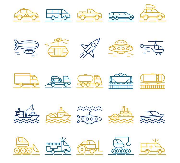 Free 25 Transport Icons