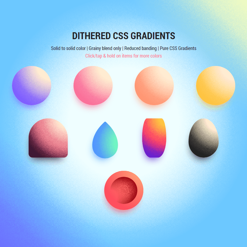 Dithered CSS Gradients