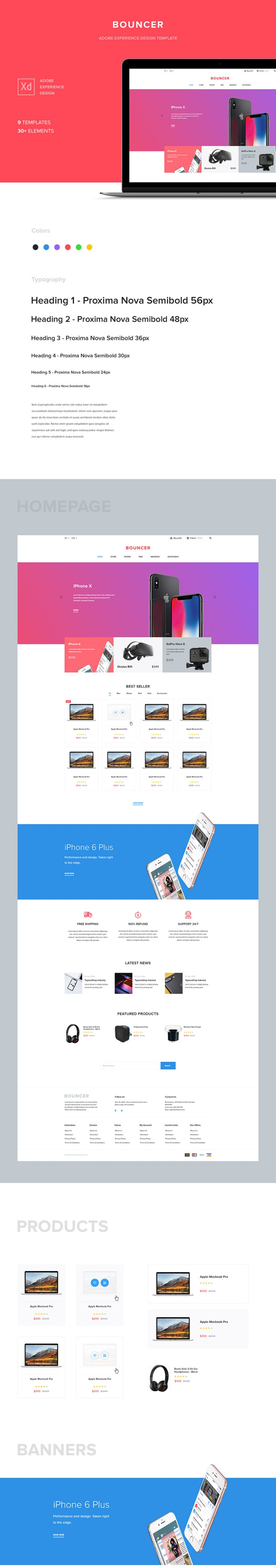 Free Ecommerce UI Kit preview
