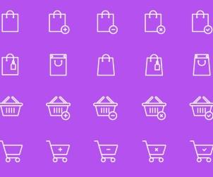Shopping Bag & Cart Icons