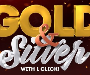 Silver and Gold 3D Text Effect
