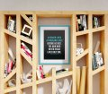 Poster Mockup In Book Shelf