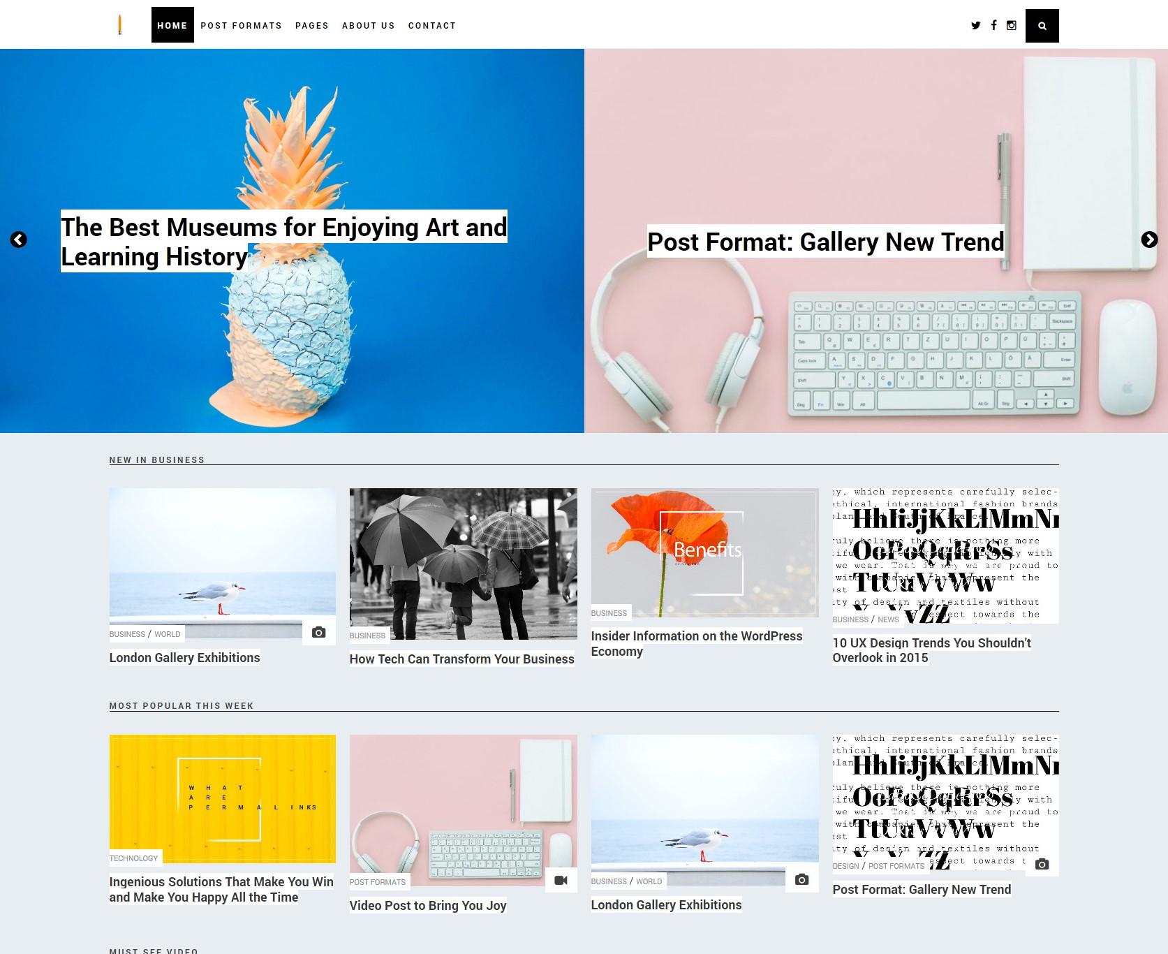 Modern Responsive WordPress Theme