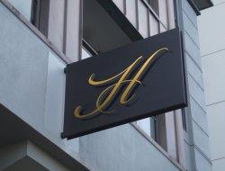 Hotel Wall Mounted Signage Mockup