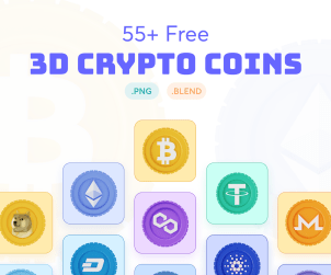 3D Cryptocurrency Icon Pack