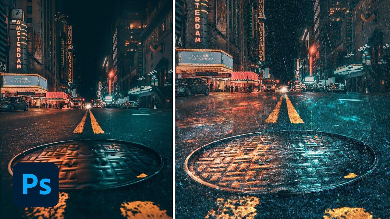 Rain Effect Photoshop Tutorial