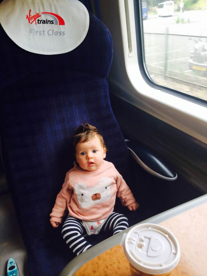 Baby on a train
