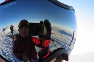 Self portrait on the summit.