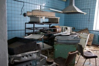 The kitchen inside the canteen.