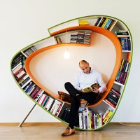 თარო-სავარძელი Bookworm