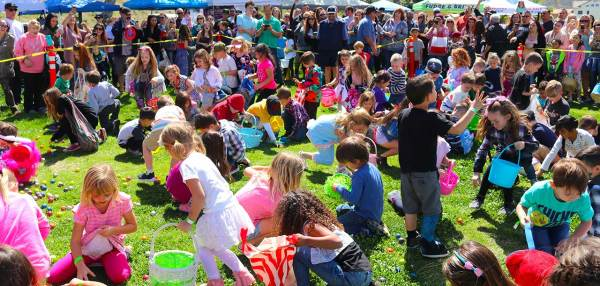 Sharing family fun at community Easter Carnival The